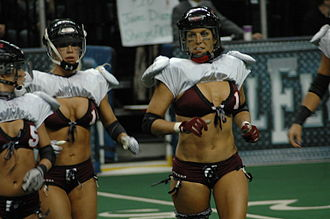 Jacksonville Breeze - Members of the Tampa Breeze during a game in 2009