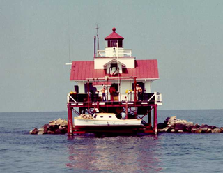 Tangier Sound Light lighthouse in Virginia, United States