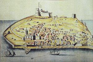 Tabarka - Tarbarka island, 17th century.