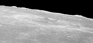 Taruntius (crater) - Highly oblique view from Apollo 8, facing west