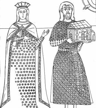 Tepčija - Tepčija Gradislav and his wife, Treskavac Monastery.