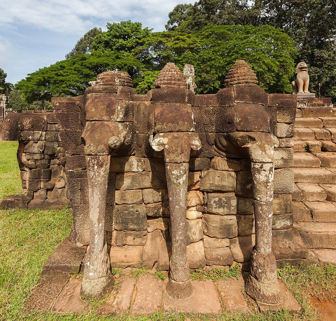 Archivo Terraza De Los Elefantes Angkor Thom Camboya 2013