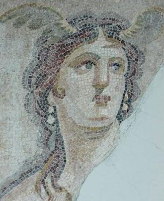 Tethys (mythology) - Mosaic (detail) of Tethys from Antioch, Turkey, Hatay Archaeology Museum 9095.