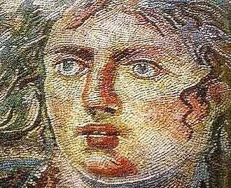 Tethys (mythology) - Mosaic (detail) of Tethys, from Philipopolis (modern Shahba, Syria),  fourth-century AD, Shahba Museum.