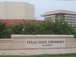 Texas State University at San Marcos sign IMG 4097.JPG