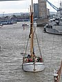 Thames barge parade - in the Pool - Reminder 6727.JPG