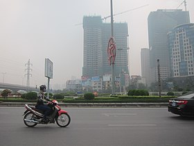 Thang Long Highway (Hanoi) near the intersection with Pham Hung Road.jpg