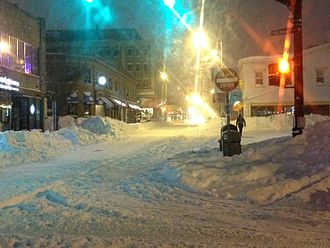 January 2015 North American blizzard - Image: Thayer Street during Juno
