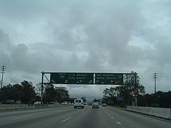 San Diego Freeway southbound near the intersection with Interstate 10.