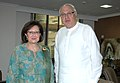 The Ambassador of European Commission to India, Mrs. Daniele Smadja calls on the Union Minister of New and Renewable Energy, Dr. Farooq Abdullah, in New Delhi on October 21, 2009.jpg