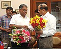 The Cabinet Secretary, Shri Pradeep Kumar Sinha with his predecessor Ajit Seth, in New Delhi on June 13, 2015.jpg
