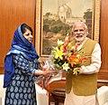 The Chief Minister of Jammu and Kashmir, Ms. Mehbooba Mufti calls on the Prime Minister, Shri Narendra Modi, in New Delhi on April 13, 2016.jpg