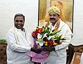 The Chief Minister of Karnataka, Shri Siddaramaiah calling on the Vice President, Shri M. Venkaiah Naidu, in New Delhi on December 04, 2017.jpg
