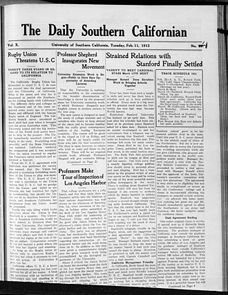 Daily Trojan - The Daily Southern Californian, Vol. 10, No. 1, February 11, 1913