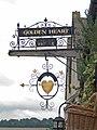 The Golden Heart Tea House sign - geograph.org.uk - 962072.jpg