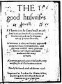 The Good Huswifes Jewell 1596 edition title page.jpg