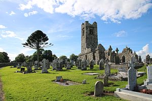 Slane - The ruins of the friary church on the hill of Slane.
