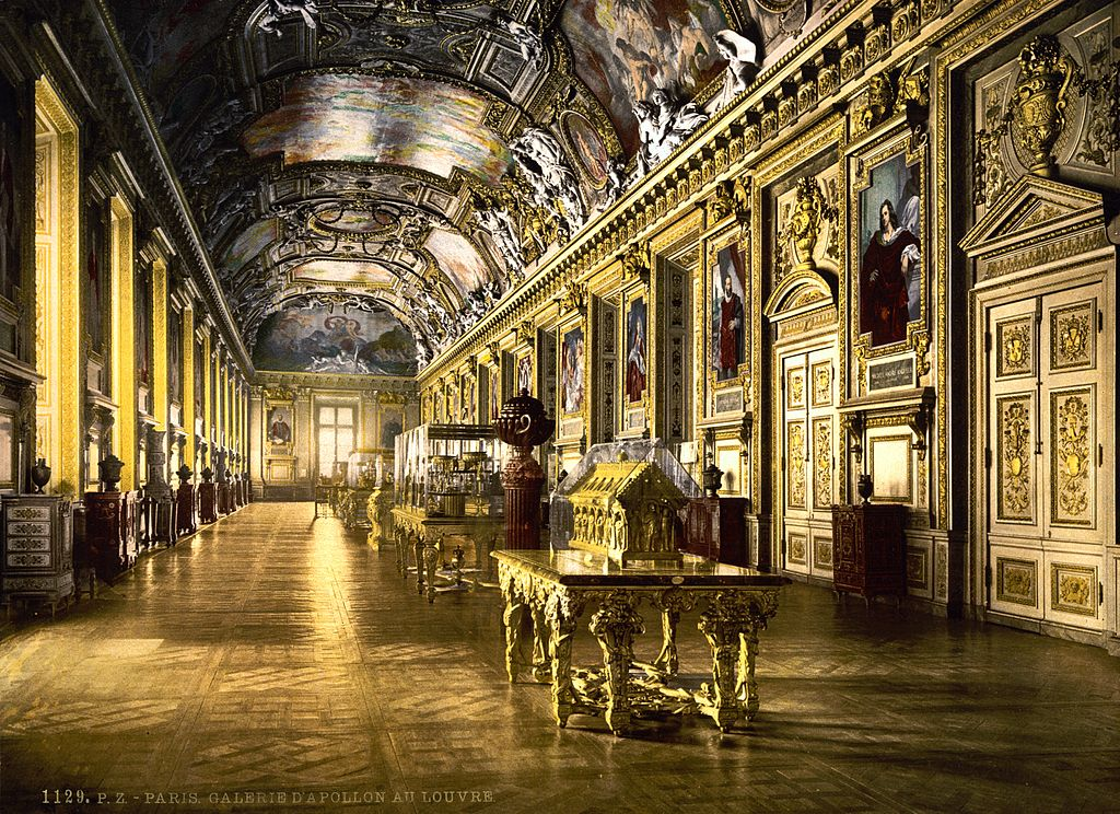 file the louvre a gallery in the louvre paris france. Black Bedroom Furniture Sets. Home Design Ideas