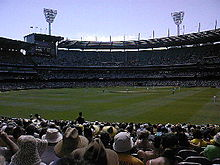 The Melbourne Cricket Ground, cricket match.jpg