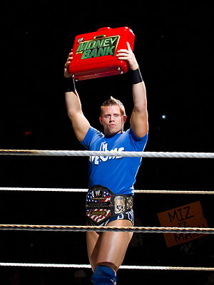 WWE Money in the Bank - The Miz as United States Champion and Money in the Bank contract holder in August 2010.