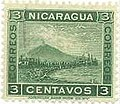 The Nicaraguan stamp depicting the Momotombo volcano.JPG