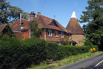 Crowhurst, Surrey - Image: The Oast House, Pikes Lane, Crowhurst, Surrey geograph.org.uk 1455395