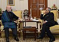 The President of Islamic Republic of Afghanistan, Mr. Hamid Karzai meeting the President, Shri Pranab Mukherjee, at Rashtrapati Bhavan, in New Delhi on December 13, 2013.jpg