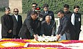 The President of Maldives, Mr. Maumoon Abdul Gayoom laying wreath at the Samadhi of Mahatma Gandhi at Rajghat, in Delhi on February 11, 2008.jpg
