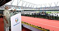 The Prime Minister, Shri Narendra Modi addressing at the ceremony to inaugurate the TransStadia Integrated Sports & Entertainment Arena Project & Khel Mahakhumbh-2017, in Ahmedabad, Gujarat on June 30, 2017 (3).jpg