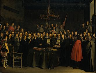 Gerard ter Borch - Image: The Ratification of the Treaty of Munster, Gerard Ter Borch (1648)