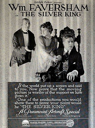 The Silver King (1919 film) - contemporary advertisement