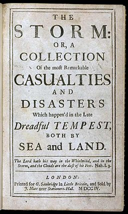 The Storm by Daniel Defoe cover page
