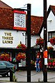 The Three Lions pub sign, 55 Meadrow - geograph.org.uk - 1457568.jpg