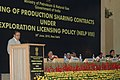 The Union Minister for Petroleum and Natural Gas, Shri Murli Deora addressing at the signing ceremony of the production sharing contracts under New Exploration Licensing Policy (NELP-VIII), in New Delhi on June 30, 2010.jpg