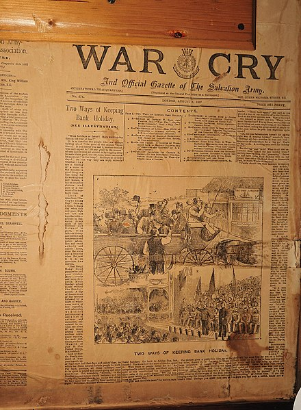 Edition of The War Cry, 6 August 1887 The War Cry.jpg