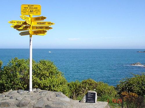 The end of the South Island Road, Bluff.jpg