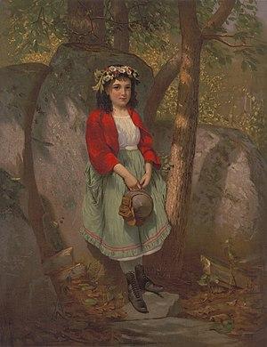 The flowers in her hair by John George Brown