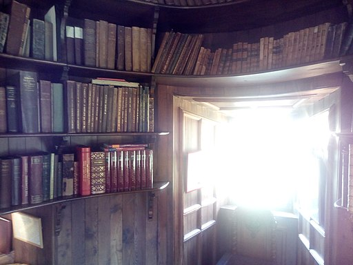 The library in Ferniehurst Castle