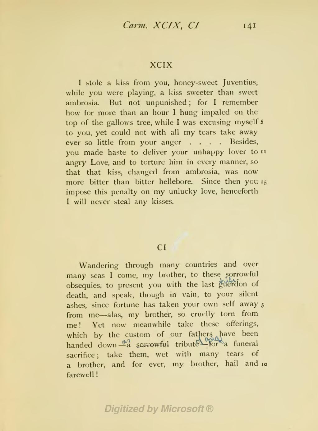 Page The Poems Of Gaius Valerius Catullus Francis Warre