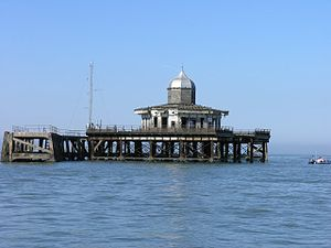 Herne Bay, Kent - The seaward end of Herne Bay pier, now isolated out at sea