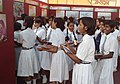 The students of Jawahar Navodaya Vidyalaya, Mau, visiting DAVP pavilion, at the Public Information Campaign on Bharat Nirman, organized by PIB, Varanasi, at Karimabad, Mau, Uttar Pradesh on November 03, 2012.jpg