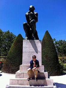 Image result for thinking man statue