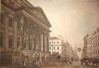 Thomas Malton - Mansion House, 1793