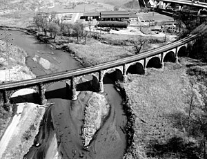 Capital Subdivision - The Thomas Viaduct, built in 1835 over the Patapsco River, was the largest bridge in the United States at that time. It still carries the Capital Subdivision today and is the world's oldest multiple arched stone railroad bridge.