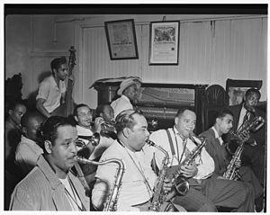 Omer Simeon - Joe Thomas, Omer Simeon and Eddie Wilcox, Loyal Charles Lodge No. 167, New York, cin Oct. 1947