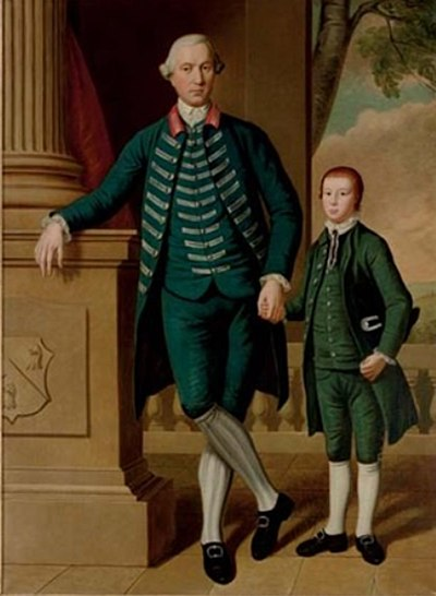 Charles Wyndham (later Edwin) and his son Thomas Wyndham in 1775 Thomas Wyndham with his father Charles Edwin Wyndham.jpg