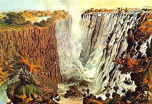 James Chapman (explorer) - Victoria FallsThomas Baines (1865)