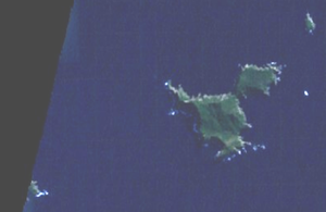 Three Kings Islands - Satellite photograph of the islands by NASA