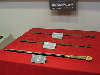 Korean sword - Three Kingdoms era swords generally have a ring pommel.  More elaborate swords hold images of dragons or phoenixes in the ring.