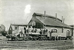Thuile locomotive - Thuile locomotive at Chartres, 1900